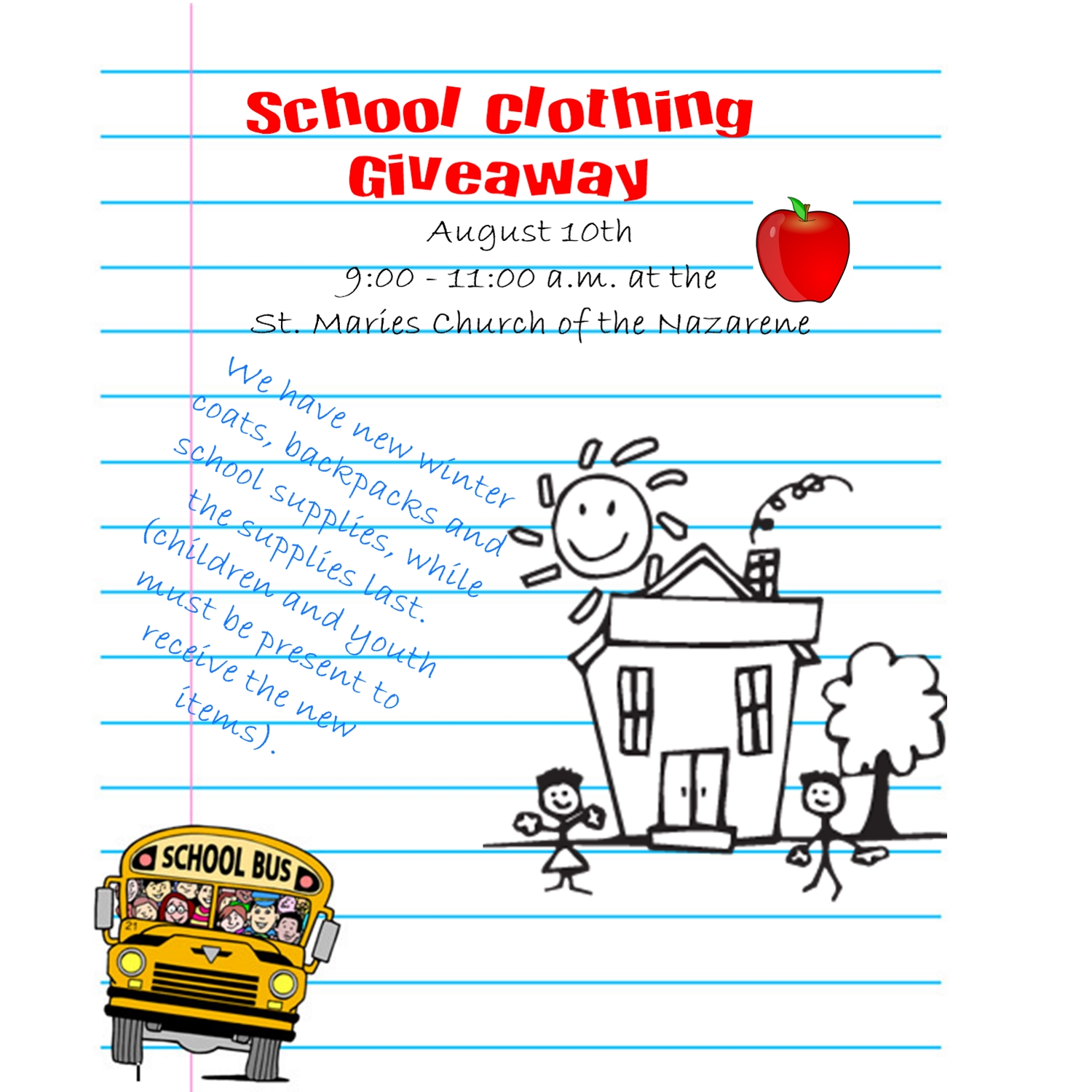 School Clothing Giveaway